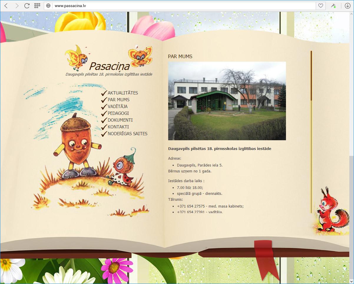 Daugavpils pilsētas 18.pirmsskolas izglītības iestāde