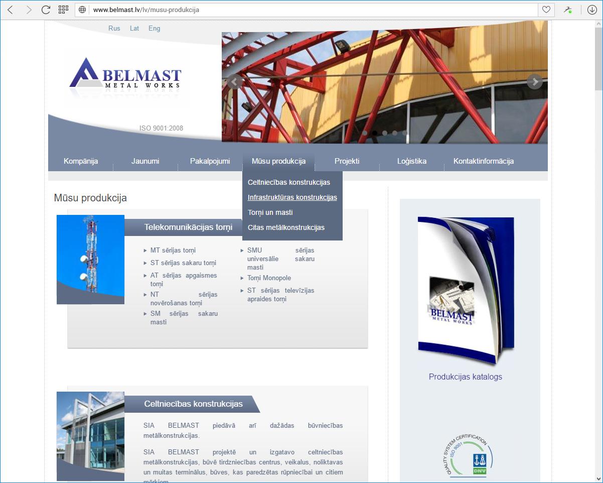 BELMAST specializēts metālapstrādes uzņēmums
