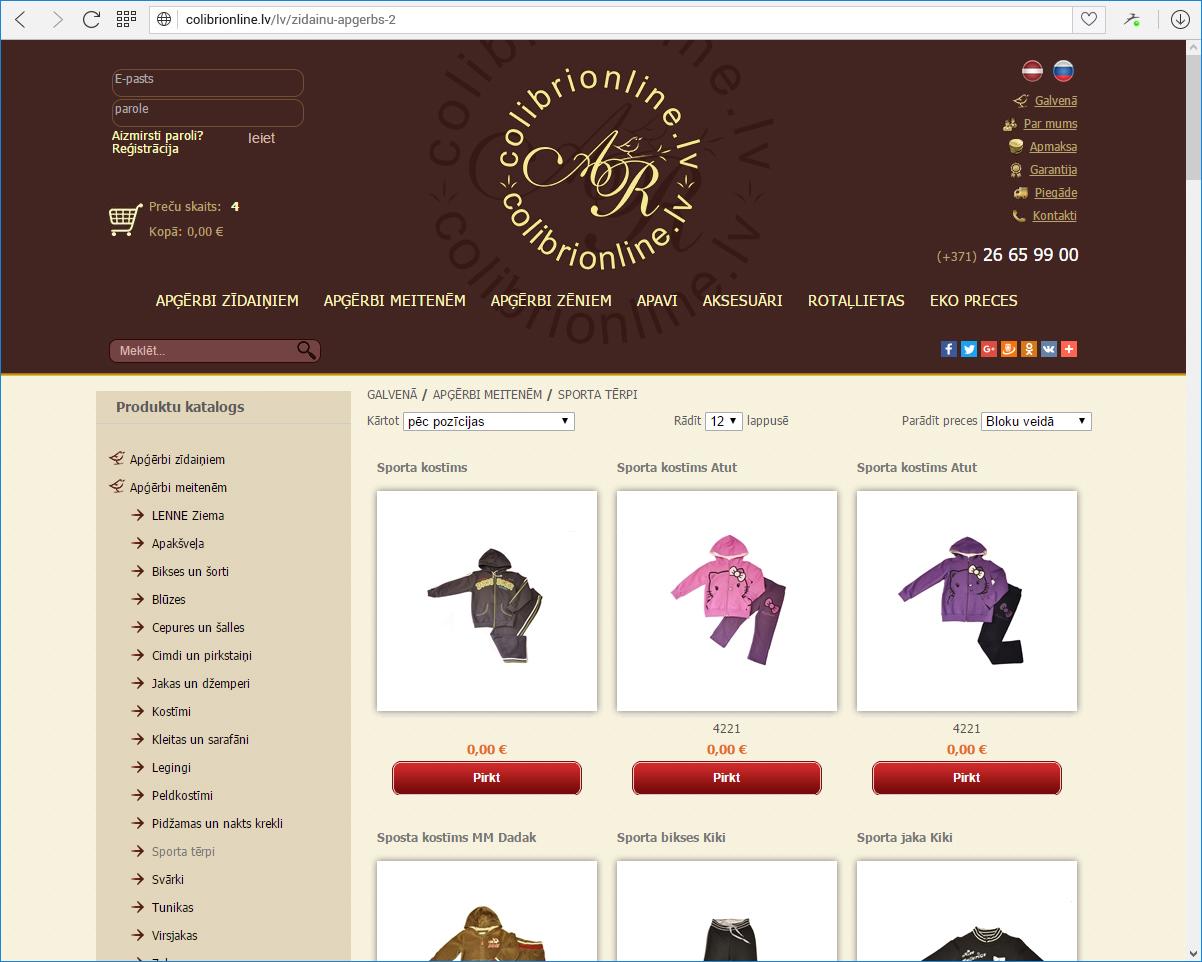 Colobri online - katalogs