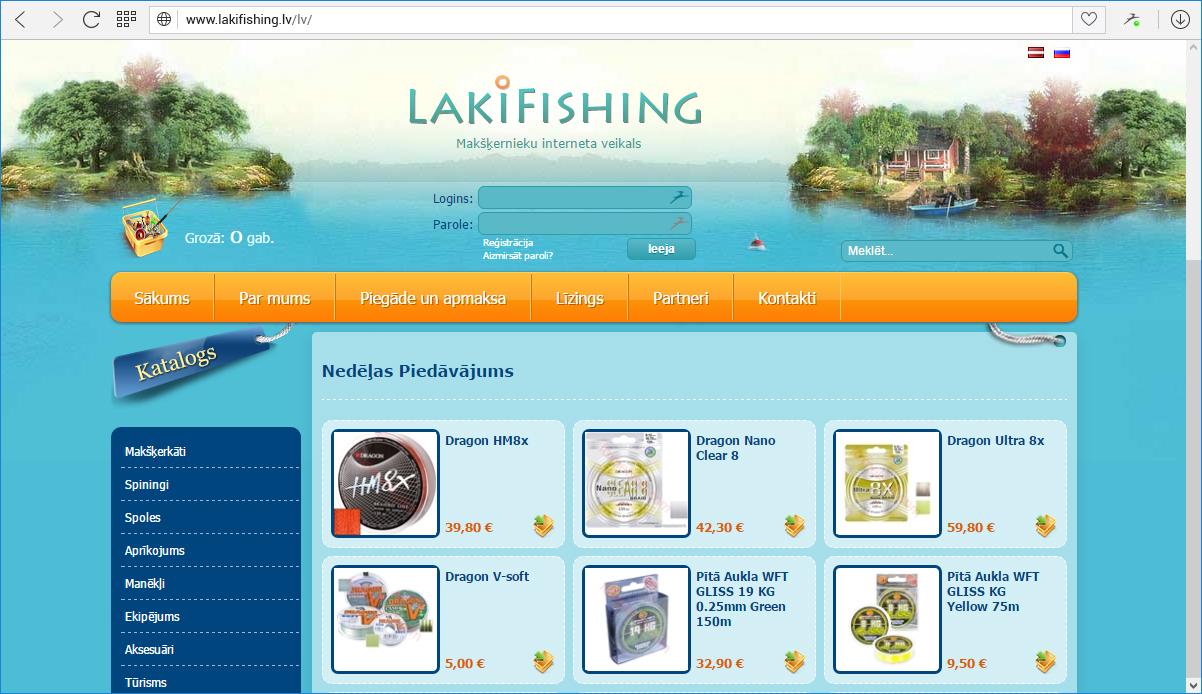Makšķerēšanas piederumu interneta veikals LakiFishing