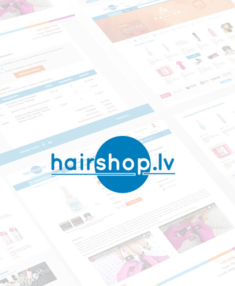 Интернет магазин профессиональной косметики и аксессуаров Hairshop.lv, v2