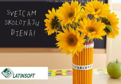 Apsveicam skolotāju dienā!
