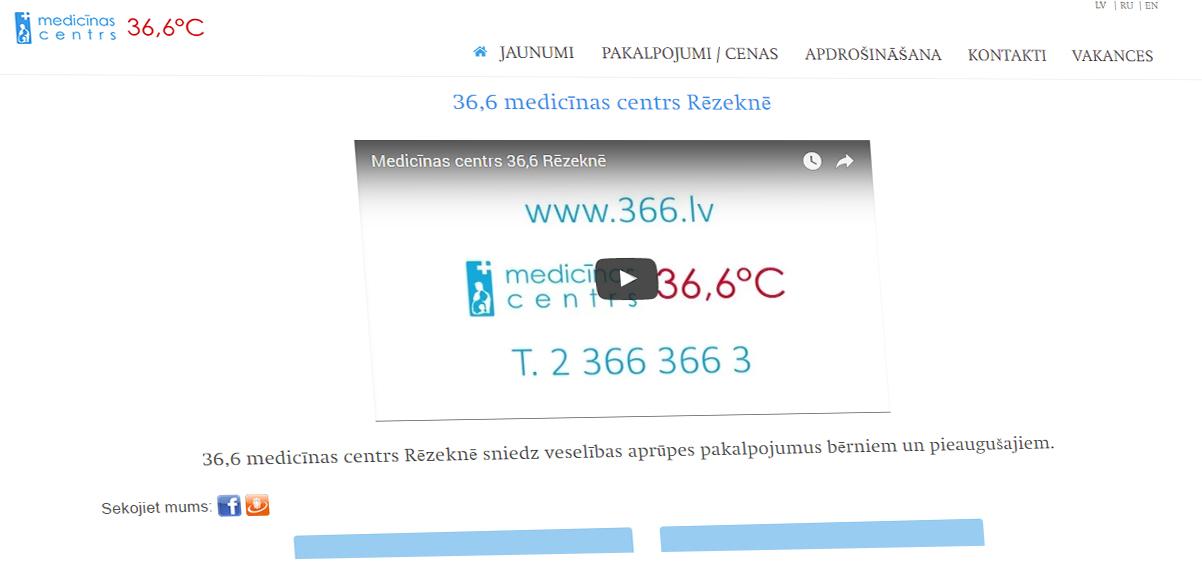 36,6 medicīnas centrs Rēzeknē