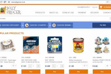 Pabeidzām kompānijas Jolly Grocer interneta veikala izstrādi