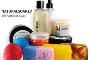 Ar rokām darināta vannas un dušas kosmētika – naturalsoap.lv