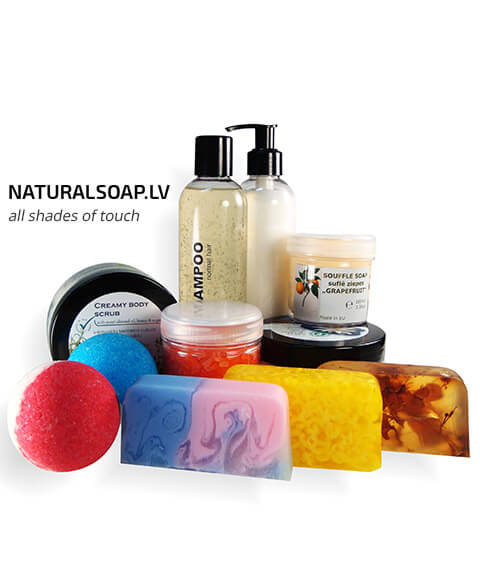 Косметика для ванны и душа ручной работы - naturalsoap.lv