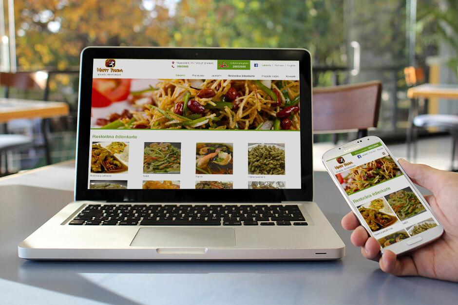 Restorāna Happy Panda jaunā mājas lapa
