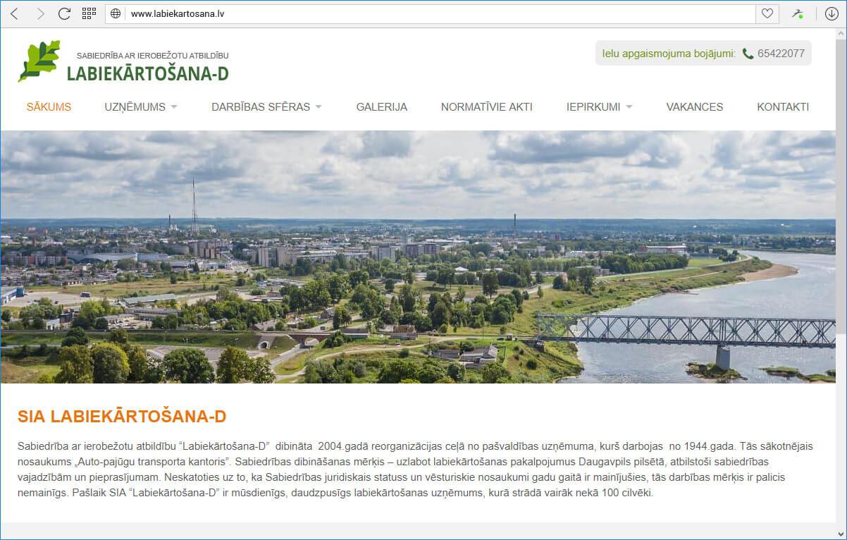 www.labiekartosana.lv - sākuma lapa