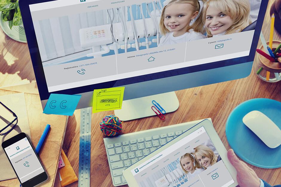 Даугавпилсская стоматологическая поликлиника - завершение разработки современного сайта для стоматологической поликлиники