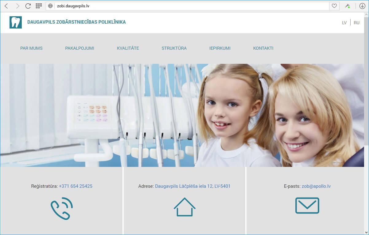 Daugavpils zobārstniecības poliklīnika - главная