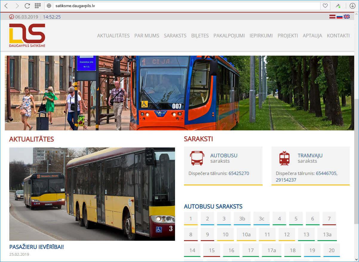 "АО ""Daugavpils satiksme"" - Sākums"