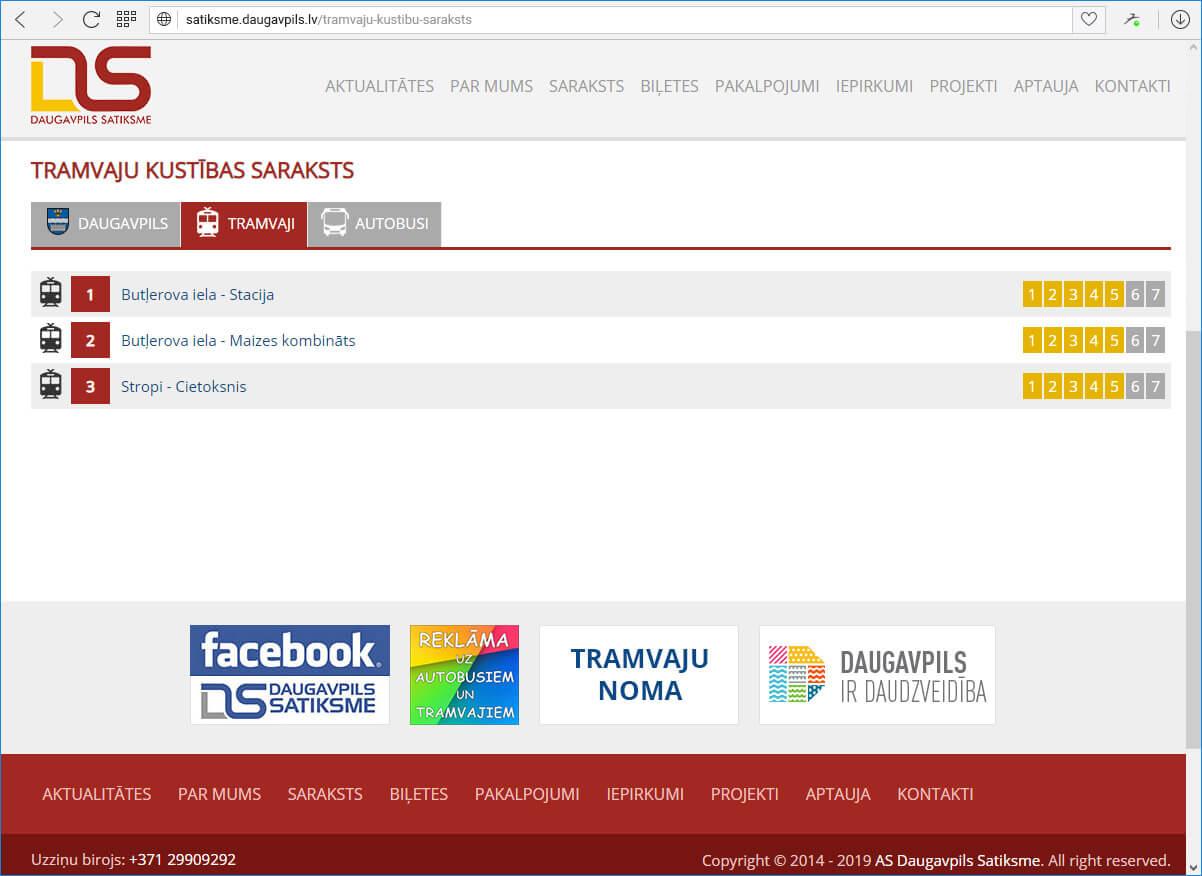 "АО ""Daugavpils satiksme"" - saraksts"