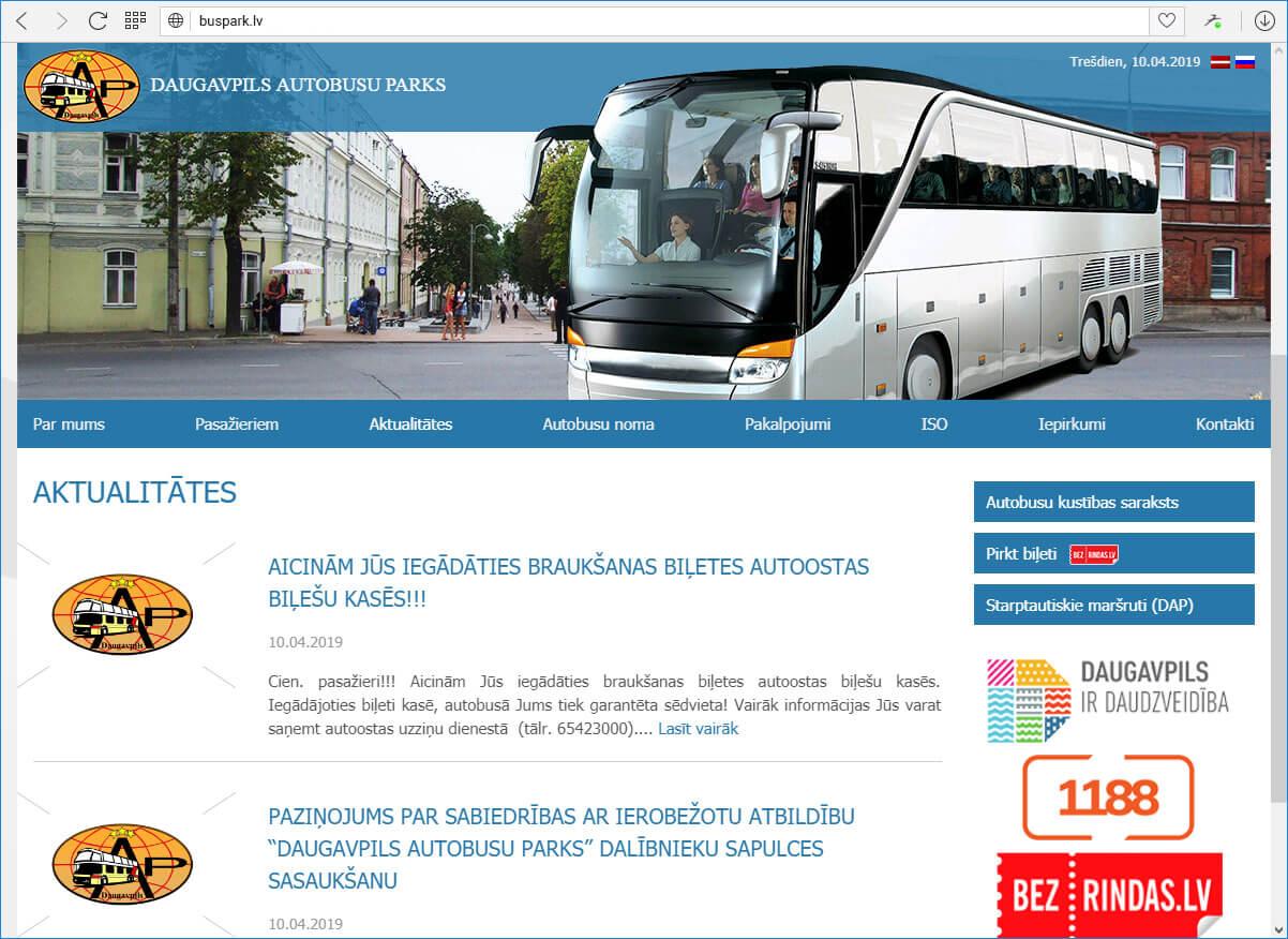 Даугавпилсский автобусный парк - главная