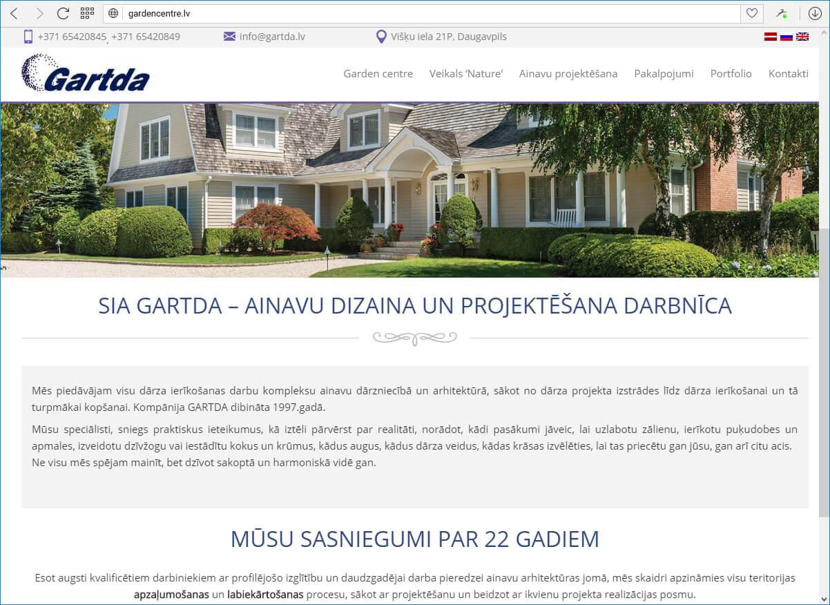 Mājaslapas adrese: gardencentre.lv