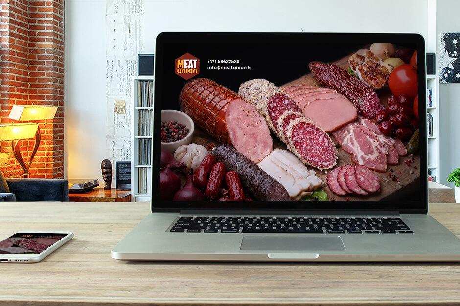 Mājas lapas izstrādāšana Meat Union