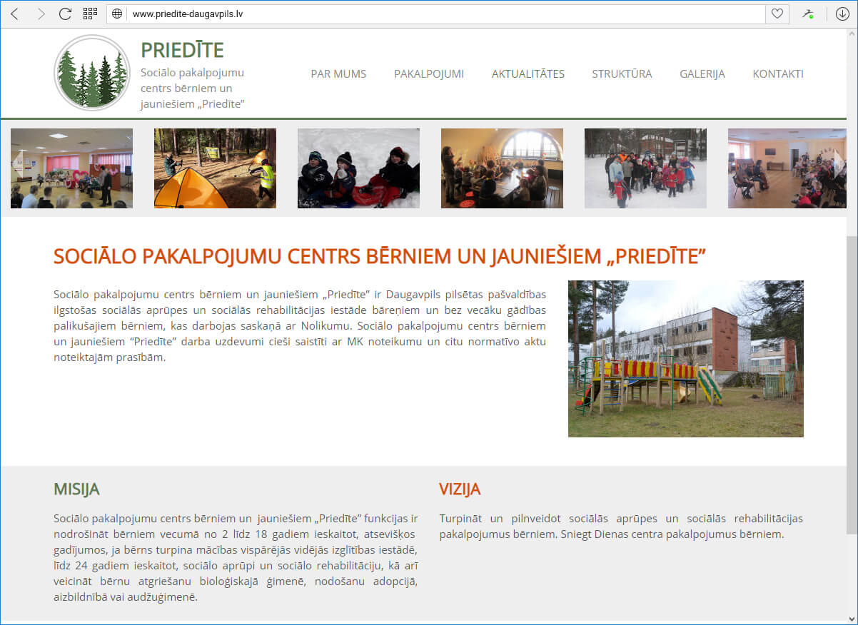 """Sociālo pakalpojumu centrs bērniem un jauniešiem """"Priedīte"""""""