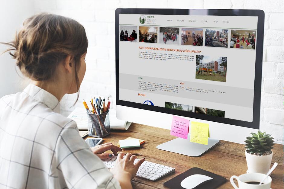 Разработка сайта детского дома Priedīte