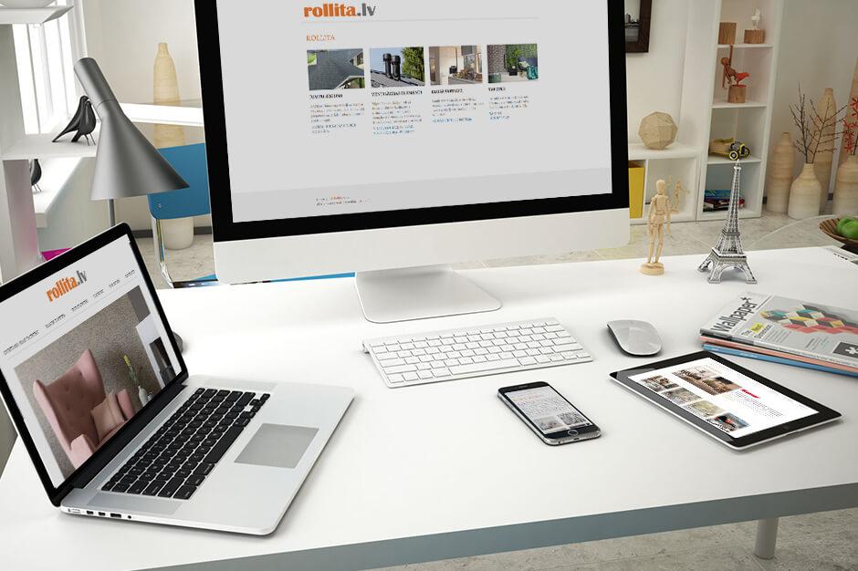 Mājas lapas Rollita trešās versijas izstrāde