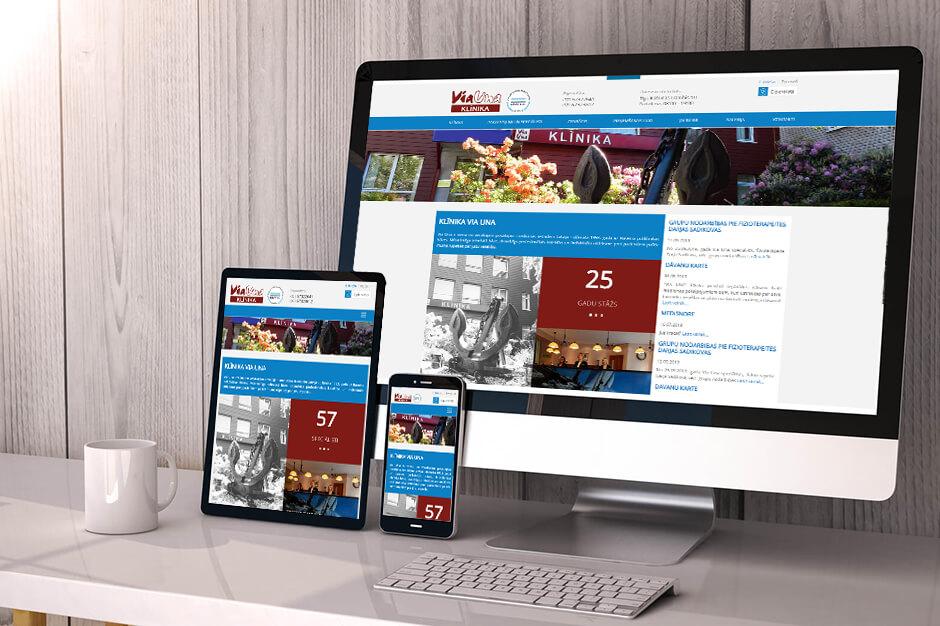 Medicīnas klīnikas VIA UNA mājas lapas otrā versija