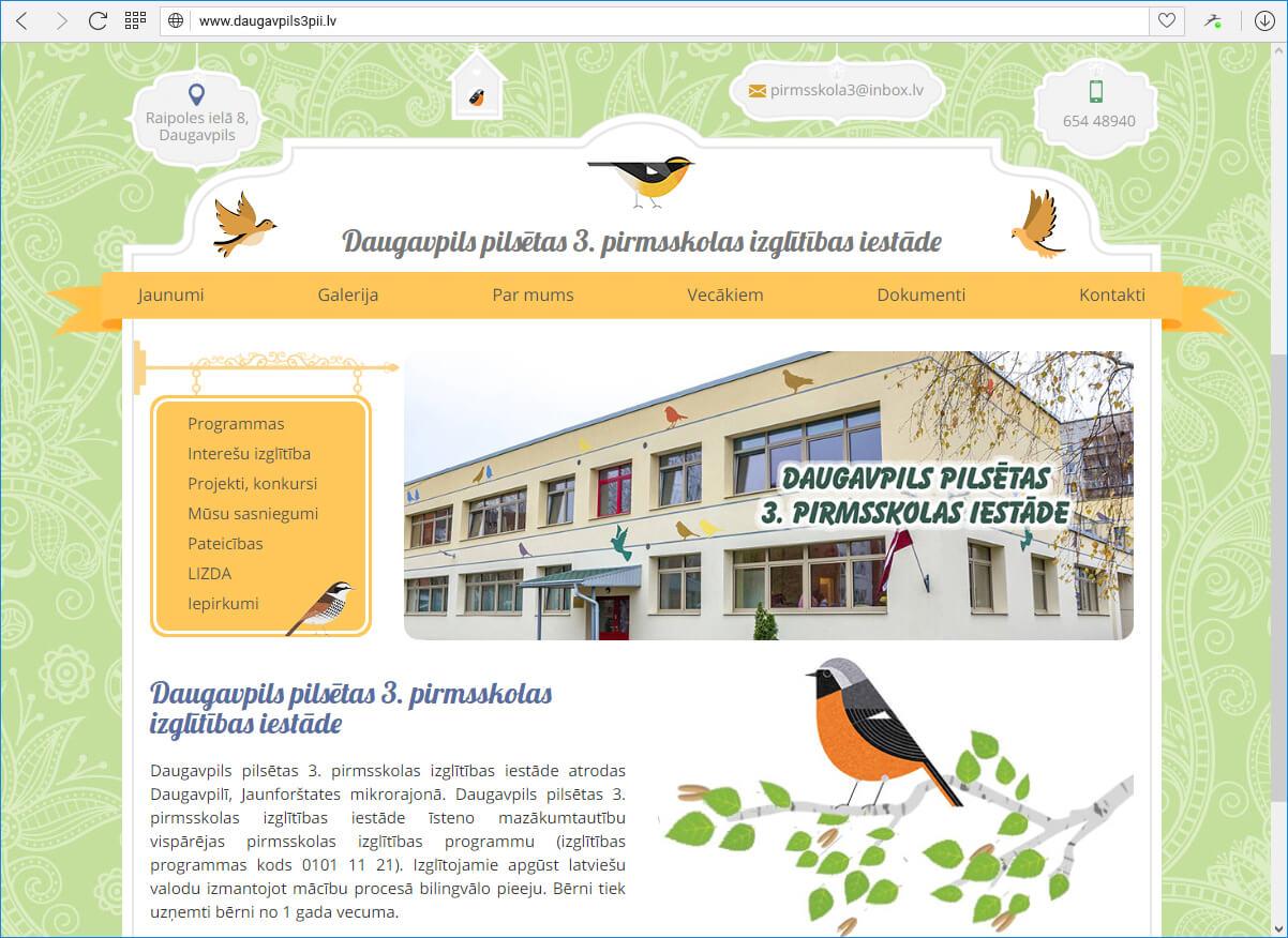 Daugavpils pilsētas 3. pirmsskolas izglītības iestāde - Sākums
