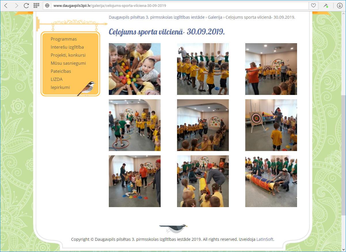 Daugavpils pilsētas 3. pirmsskolas izglītības iestāde - galerija