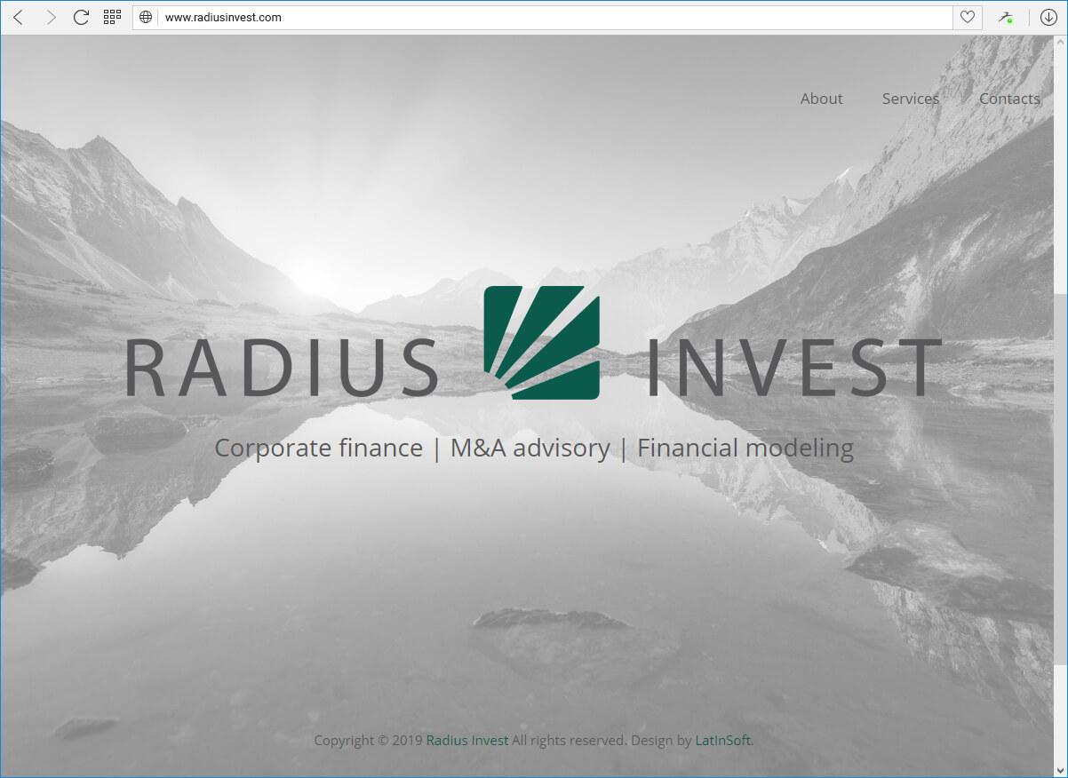 RRadius Invest - поставщик консультационных услуг