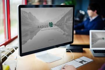 Mājas lapas-vizitkārtes Radius Invest izstrādes pabeigšana