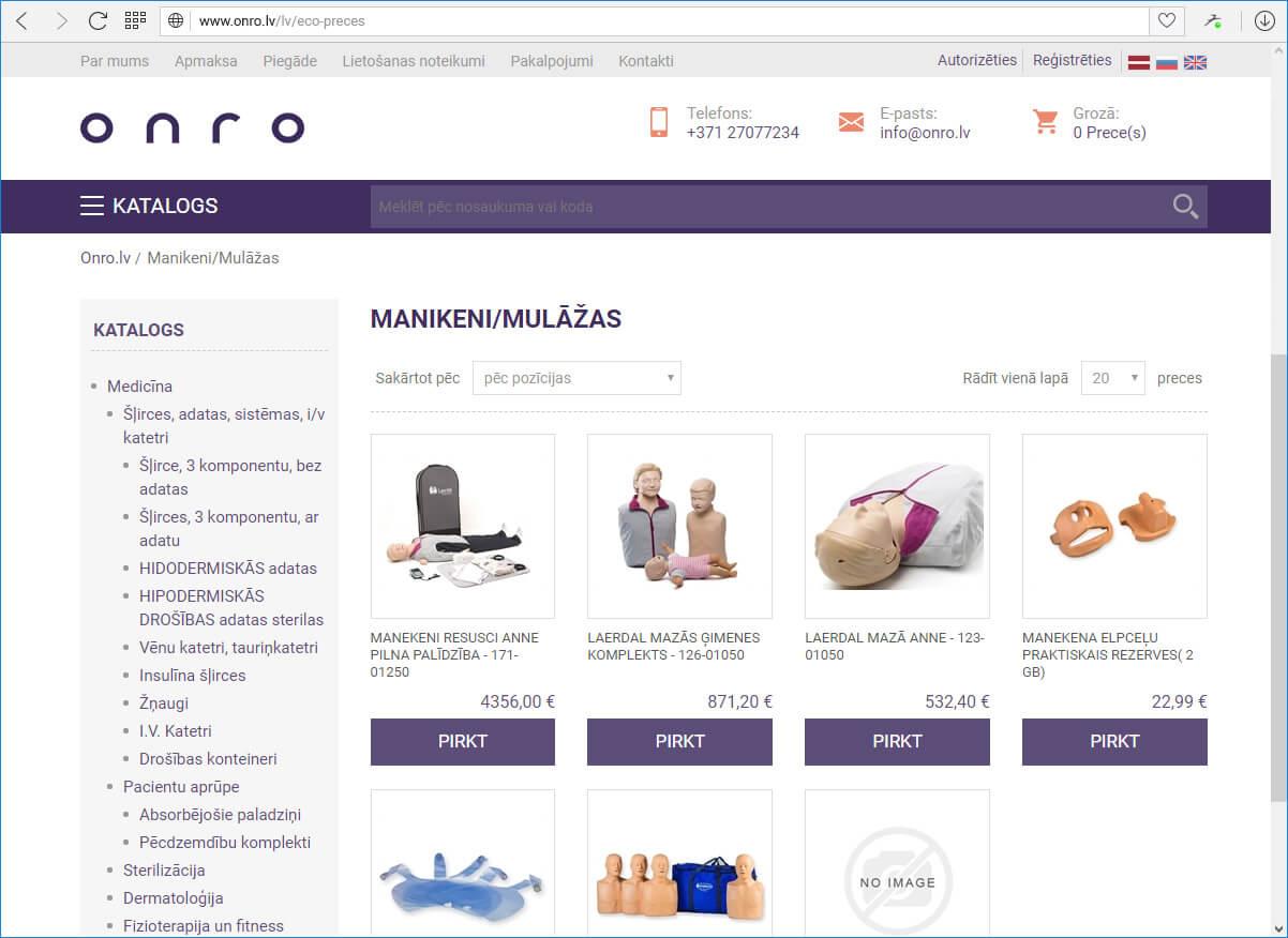 Интернет-магазин ONRO
